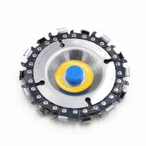 Image 4 - 4 אינץ 14 שיניים מטחנות שרשרת דיסק חיתוך דיסק 16mm ארבור נגרות גילוף דיסק עבור 100/115 זווית מטחנות/מסור עגול