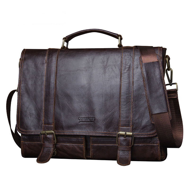2019 High Quality Men Retro Briefcase Business Shoulder Bag Mens Travel Laptop Messenger Bags 100% genuine leather Handbag Bag2019 High Quality Men Retro Briefcase Business Shoulder Bag Mens Travel Laptop Messenger Bags 100% genuine leather Handbag Bag
