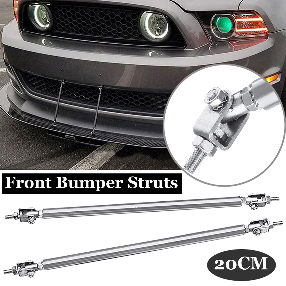 2pcs Adjustable Front Bumper Lip Splitter Strut Rod Tie Support Bar For Dodge
