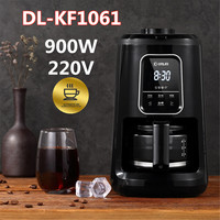 600ML Multifunctional Coffee Machine Home Application Full Automatic Grinding Bean Powder Coffee Machine Cafe Maker