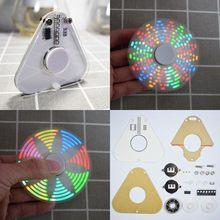 Geekcreit? DIY Круглый треугольный светодиодный вращающийся ручной Спиннер SMD Обучающий набор