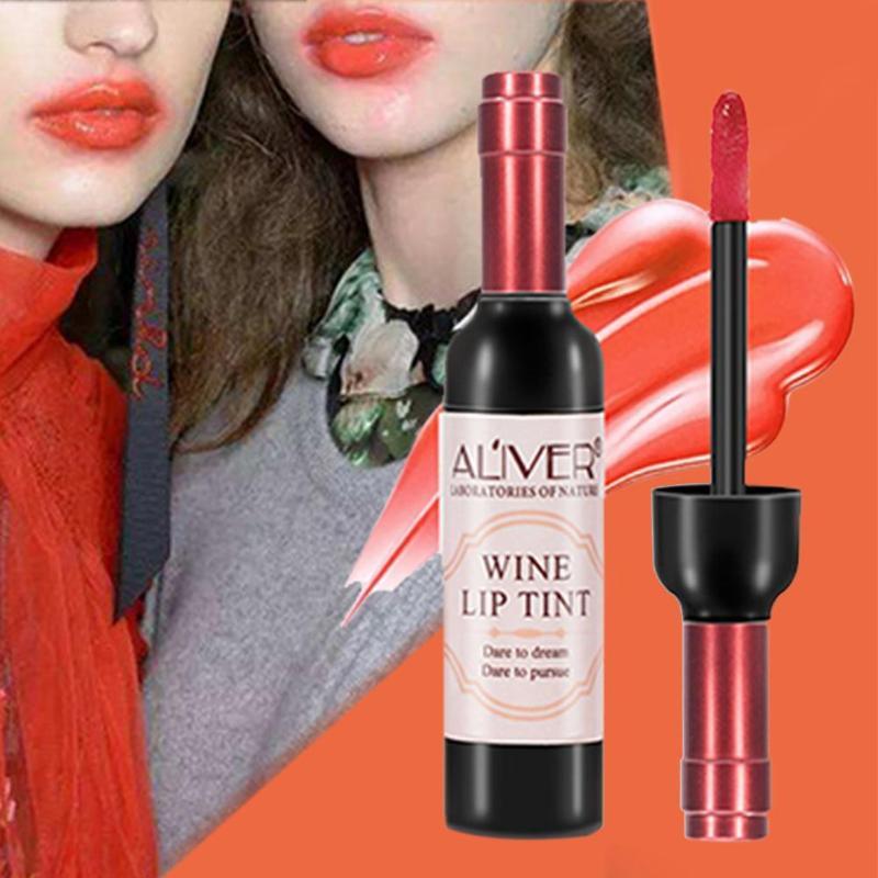 Red Wine Bottle Lips Makeup Moisturizer Long Lasting Lip Gloss Lipstick Waterproof Cosmetic Beauty Makeup Matte Maquillaje Tools 3