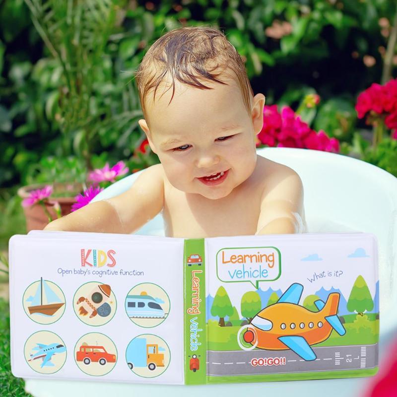 Colorful Baby Bath Books Waterproof Infant Bathroom Eva Floating Cognize Book Kids Cartoon Tearing Resistance Intelligence Toy Bath Toy
