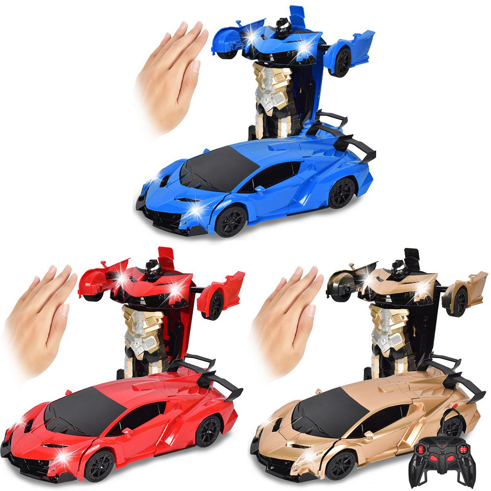 In 1 Gesture Sensing Robot 1: 12 One Button Transformation Remote Control Trucks Drift Toy Gift For Kids A Key Deformation