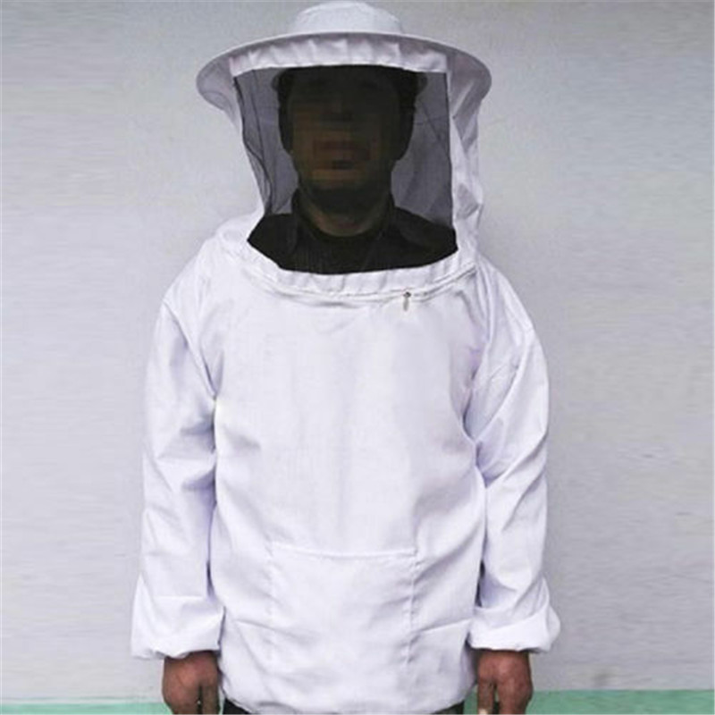 Protective Beekeeping Jacket  Suits Veil Smock Equipment Bee Keeping Hat + Clothing