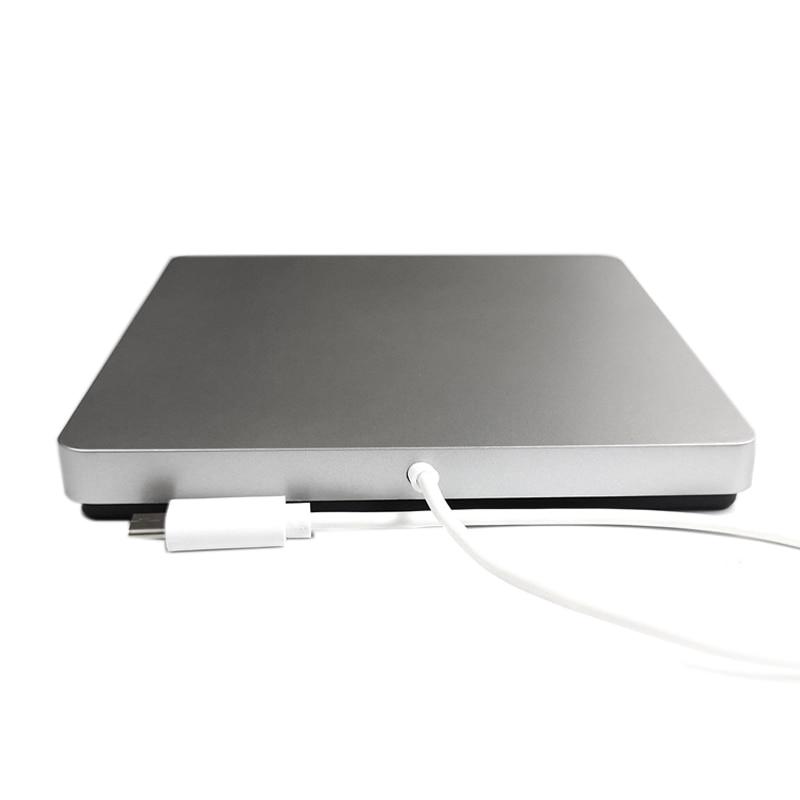 En Aluminium Lecteur Blu-Ray Slim Type C Graveur Bluray BD-RE CD/DVD RW Écrivain Jouer 3D 4 k Blu-ray Disque pour Pc Portable
