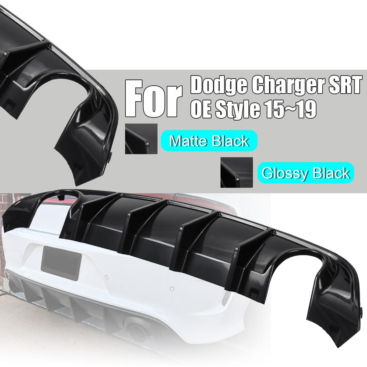 Becquet de lèvre de diffuseur de course de pare-chocs arrière d'abs avec la cantonnière latérale pour le chargeur de Dodge SRT OE Style 15 ~ 19 diffuseur d'échappement