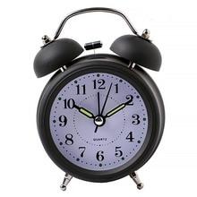 83beaeda45a Relógio Despertador Loud 1 PCS Portátil De Metal Retro Cabeceira Despertador  Luz Noite Silenciosa Duplo Sino