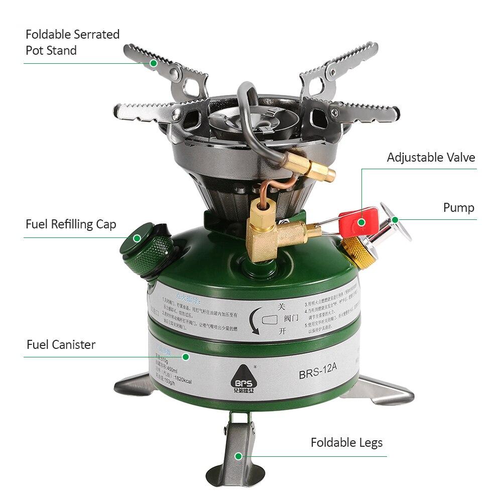 BRS новый портативный открытый цельные газовые горелки плита газовая плиты Мини топливо Кемпинг Примус для кемпинга пикника - 5