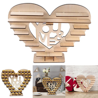 Romantic Wedding Wooden Heart shaped Chocolate Cupcake Display Stand Decoration