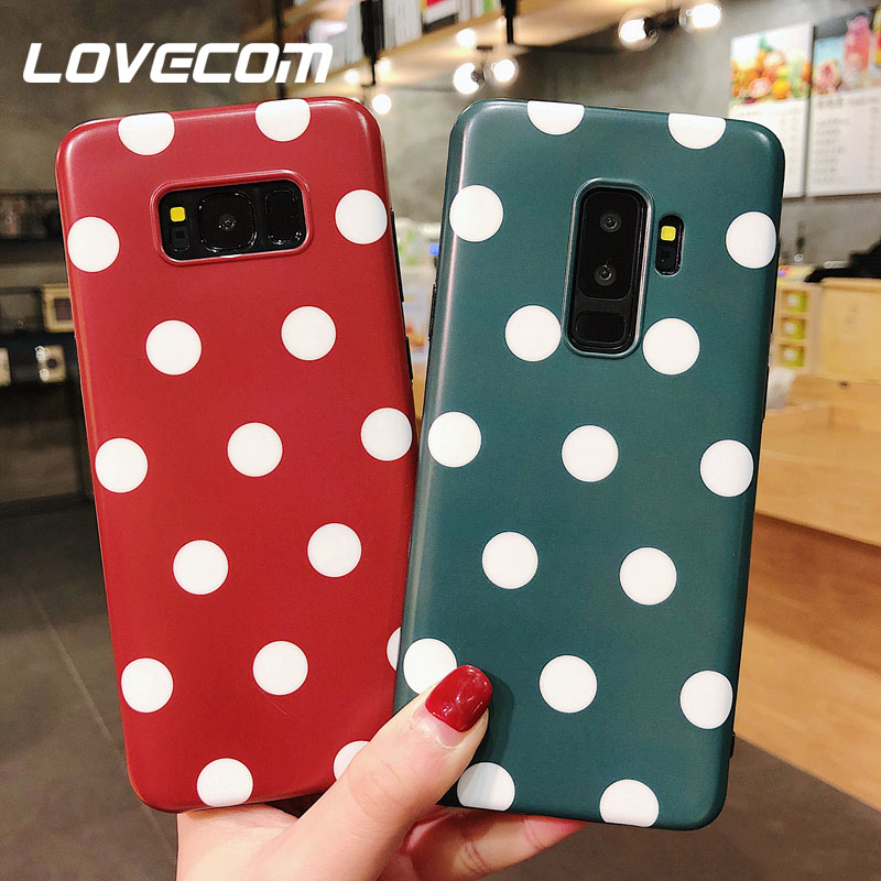 Fitted Cases Reasonable Lovecom Wave Point Plain Cases For Samsung Galaxy S10 Plus S10e S8 S9 Note 8 9 Soft Imd Full Body Phone Back Cover Coque Gifts
