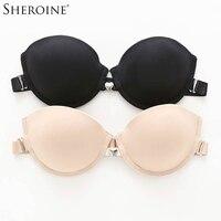 ed8862528 Sheroine Bras Metal Heart Shaped Front Closure Underwire Backless Beauty  Back Women Push Up Brassiere Bralette