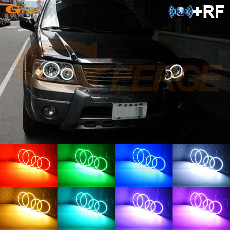 For FORD ESCAPE 2005 2006 2007 Excellent RF Bluetooth Controller Multi Color Ultra bright RGB LED