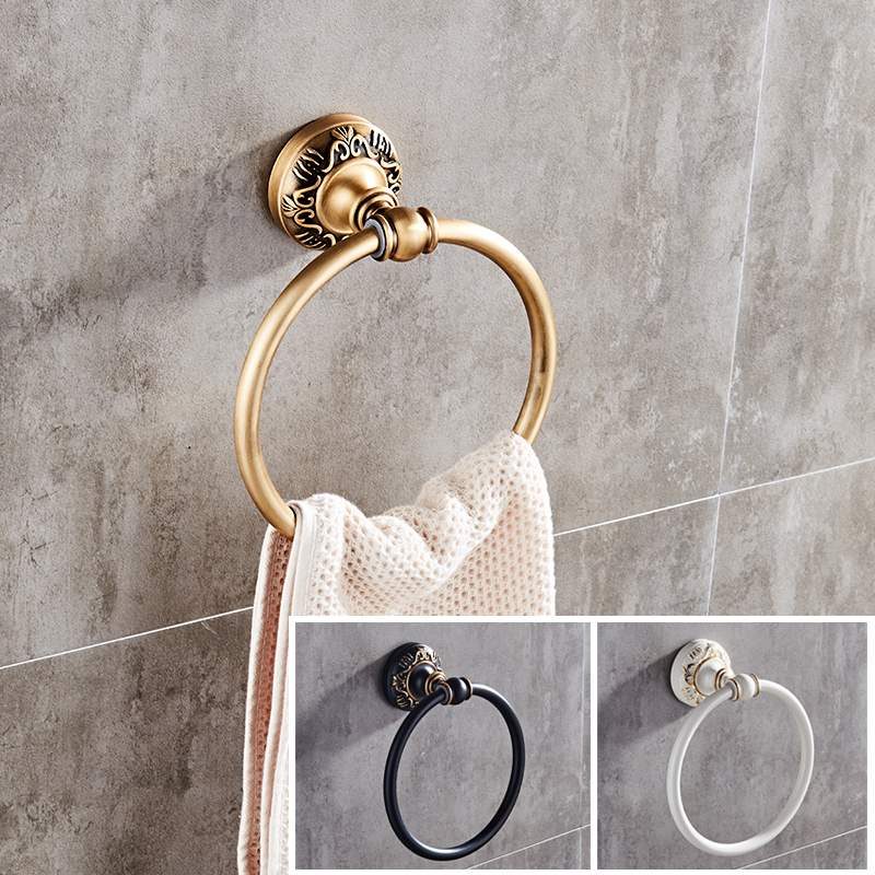 Pleasing Us 12 42 31 Off Antique Black White Wall Mounted Round Towel Ring Classic Bathroom Towel Holder Bathroom Accessories In Towel Rings From Home Download Free Architecture Designs Scobabritishbridgeorg