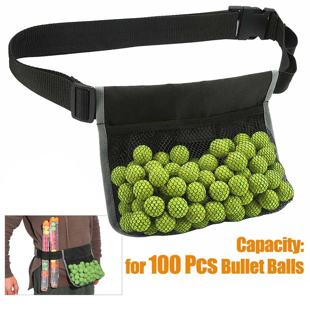 Adjustable Nylon Bullet Balls Waist Bag Storage Bag For Nerf Rival Apollo Zeus 100 Pcs Capacity