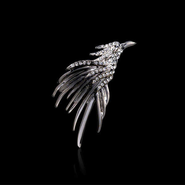 Aku-Remiel Gaya Inggris Fashion Retro Bros Pin untuk Pria Hawk Sayap Crown Kemudi Elk Burung Hantu Daun Lencana Suit kemeja Kerah Aksesoris