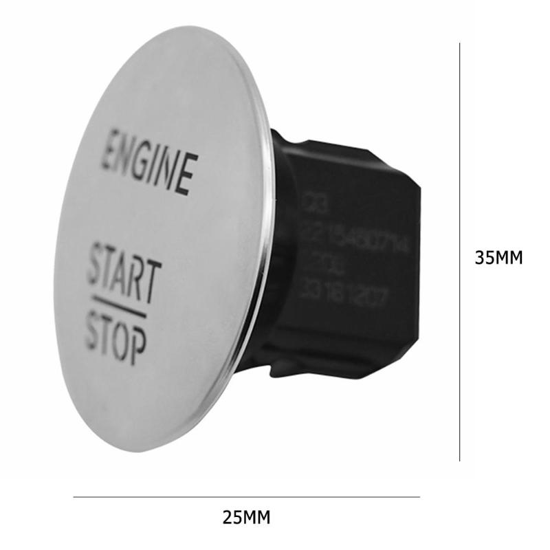 Image 5 - Keyless Go Start Stop Push Button Engine Ignition Switch 2215450714 Silver For All Benz Models With One click Start Switch-in Car Switches & Relays from Automobiles & Motorcycles