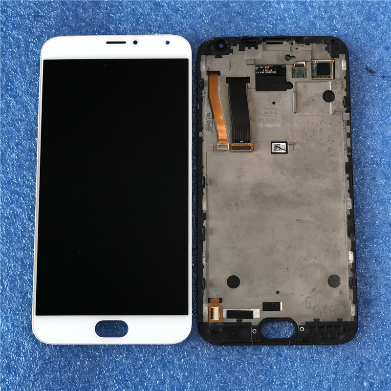 Original Axisinternational For 5 5 Meizu MX5 MX 5 AMOLED LCD Screen Display With Frame Touch