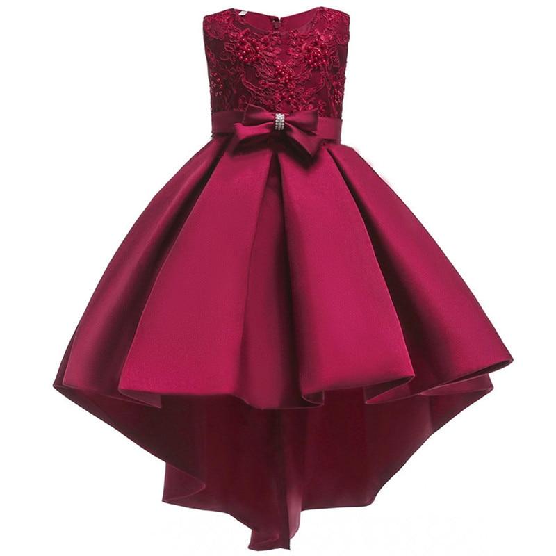 2019 Kids Dresses Girls Elegant Wedding Beaded Glitter Flower Girl Dress  Teenage Princess Party Pageant Formal 0e75b2415834