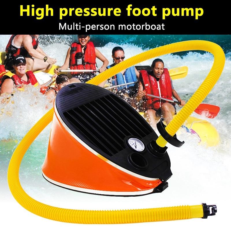 Portable Inflatable Foot Pump Air Pump For Boat Kayak Raft With Pressure GaugePortable Inflatable Foot Pump Air Pump For Boat Kayak Raft With Pressure Gauge