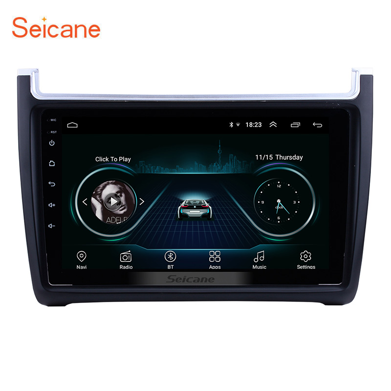 Seicane 9 Inch 1024*600 Android 8.1 for 2012-2015 VW Volkswagen Polo Car Audio Stereo GPS Navigation with 1080P Video SWC