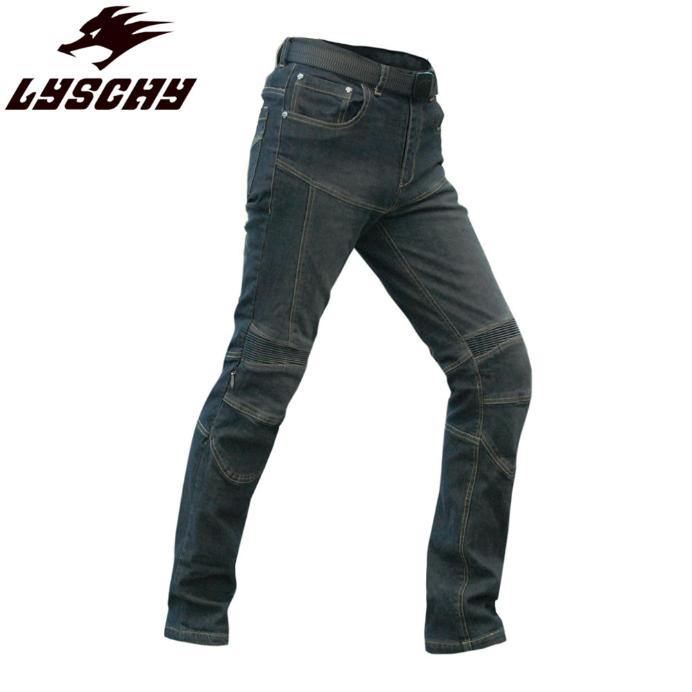 LYSCHY Riding Motorcycle Pants Trousers Reflective Clothing Jeans Biker Moto Goods Protection Man Men Rider Racing Pant Jeans