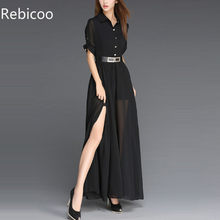 European Empire Women Dress Summer 2019 New Fashion Female Dresses Chiffon Vestidos Plus Size Women Party Dress Long(China)