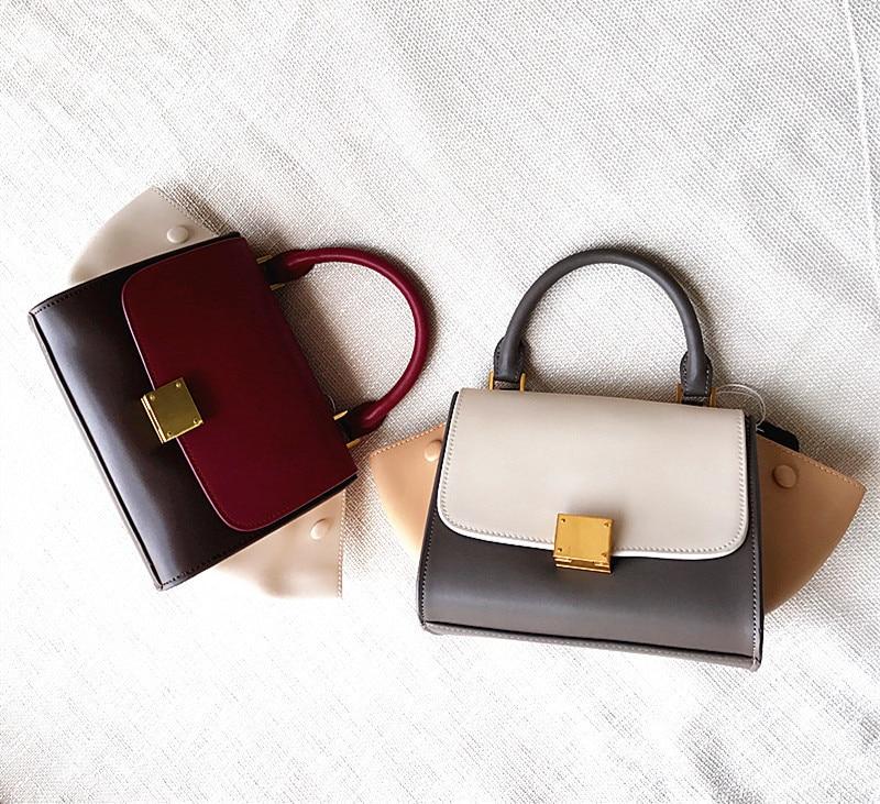 Handtasche Einzelnen Mode Koreanischen small Small Flut large Marke large Rindsleder Geldbörse small large Stil Schulter Tasche Leder Frauen 2018 WOcEIW