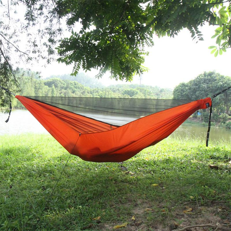 Sleeping Bags Camping & Hiking Outdoor Parachute Fabric Nylon Hammock Enlarged Widening Ultra-light Hammock Woodland Lake Swing Cot Bed 300x200cm Iqammocking