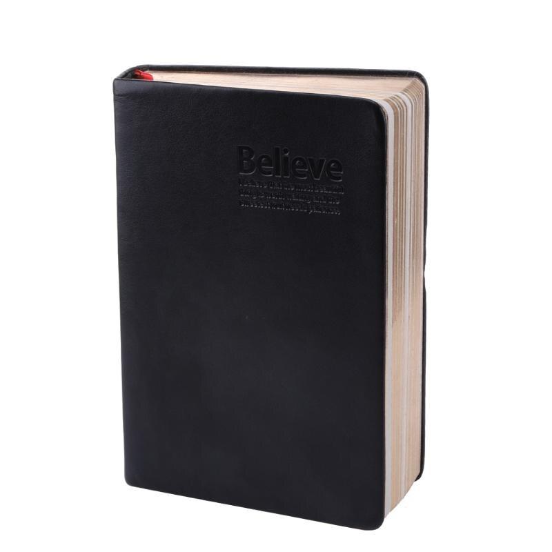 Festa favor capa de couro caderno da bíblia do vintage papel grosso notebook bloco de notas duro livro de copybook diário presente de festa de natal