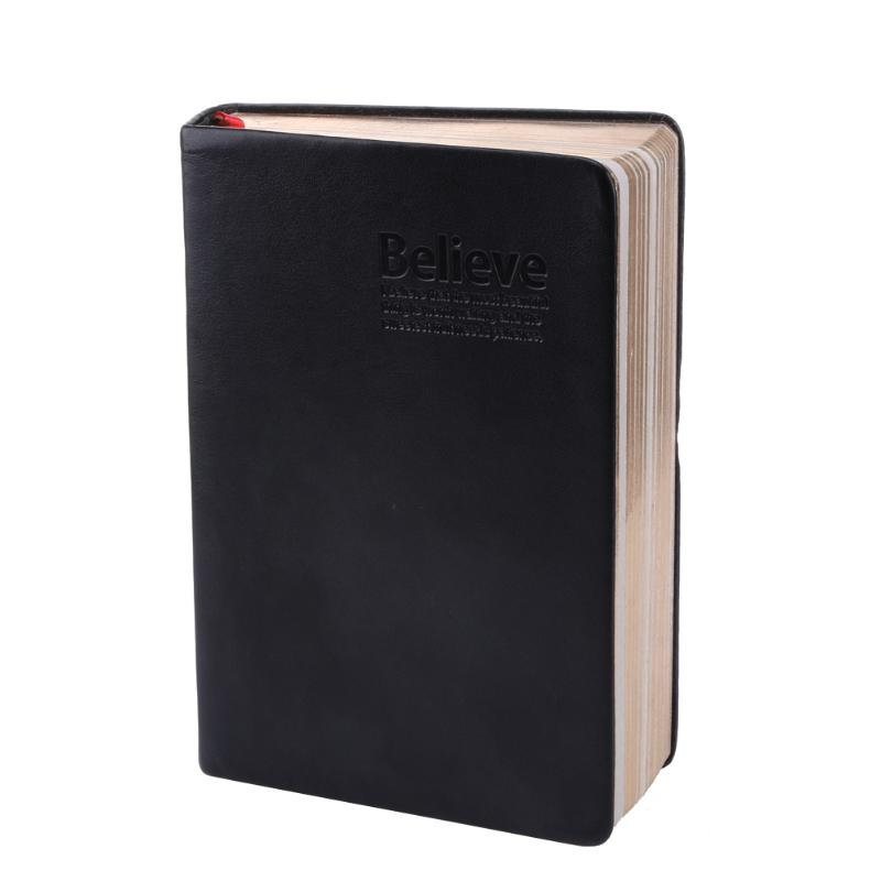 Party Favor Leather Cover Bible Notebook Vintage Thick Paper Notebook Notepad Hard Copybook Diary Book Christmas Party Gift