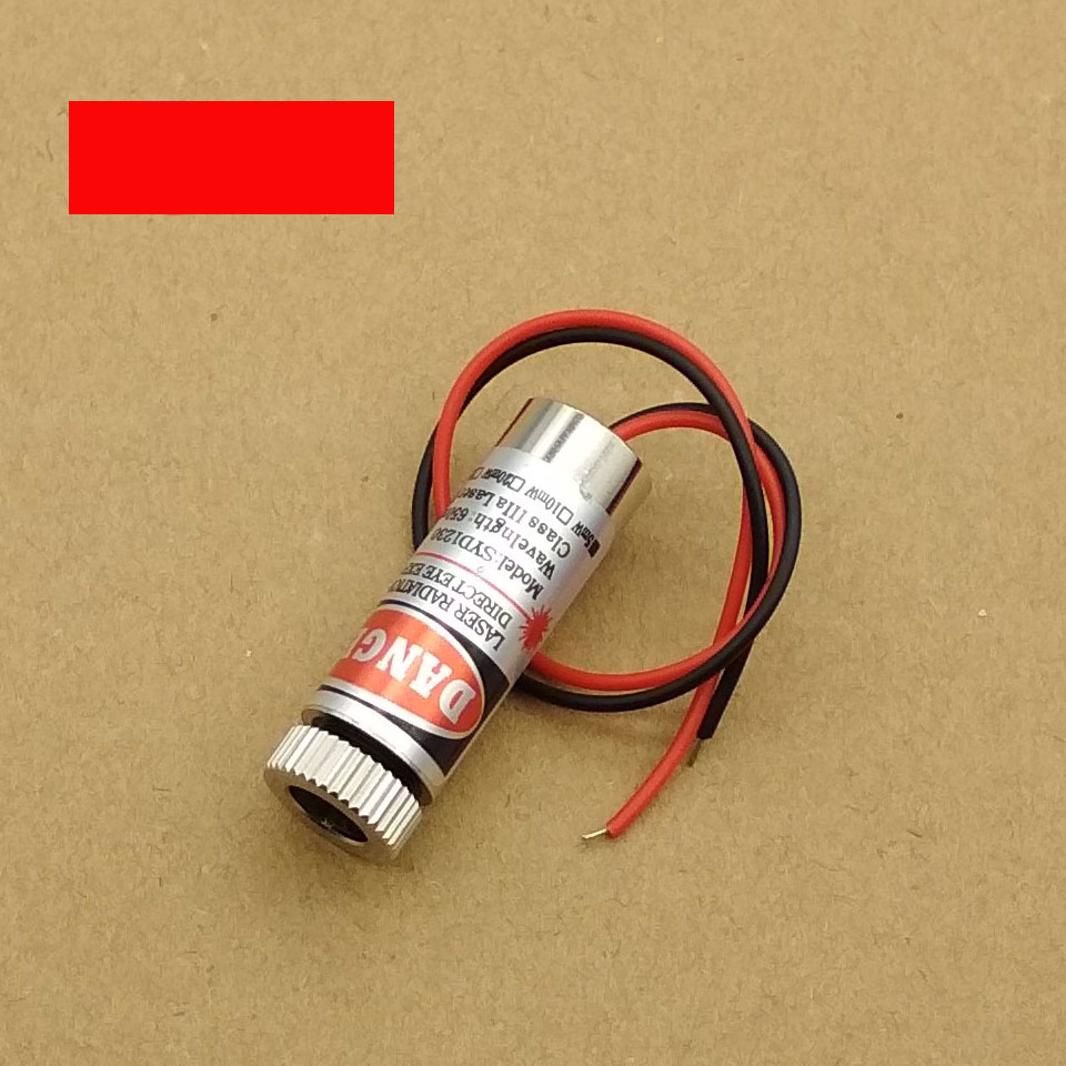 Hot Sale 650nm 5mW Red Line /Point /  Cross Laser Module Head Glass Lens Focusable Industrial Class