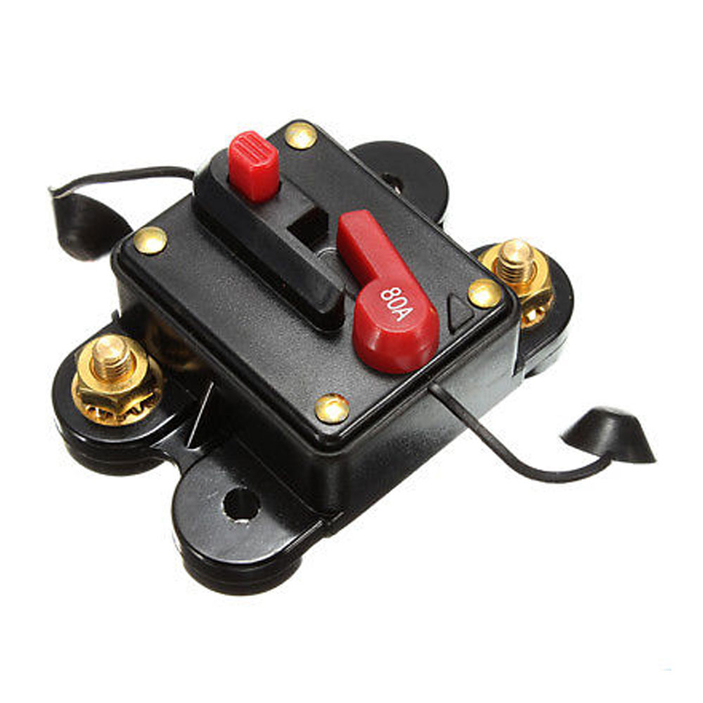 DC 80A 100A 150A 250A Car Audio In Line Automatic Recovery Switching Circuit Breaker Fuse Holder Protection in Fuses from Automobiles Motorcycles