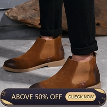 Winter Man Chelsea Boots British Fashion Style Ankle Boots Black Brown Grey Brogues Soft Leather Casual Shoes Tenis With Plush jookrrix 2017 autumn fashion women chelsea boots retro rivets lady genuine leather shoes british style ankle brogues boots black