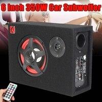 6 дюймов 350 Вт под сиденьем активный сабвуфер для автомобиля динамик стерео бас аудио питание автомобиля усилитель сабвуфера активный сабву...