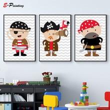 hot deal buy nordic canvas painting nursery boys pirates art wall print pirates print baby boy nursery wall decor print custom colour