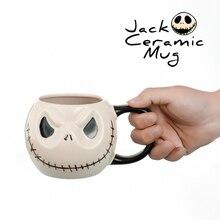 Skull Mug Anime Coffee-Cup Skellington Ceramic Halloween-Jack Milk Tea U.S.A Horrible