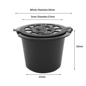 Image 3 - Cápsulas reutilizáveis de café preto Nespresso, 6 unidades, escova, colher, refil de filtro, para presente