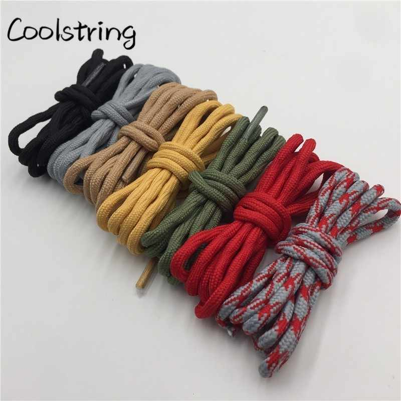 Coolstring Cool 4.5 มม. สวมใส่ Mountaineering Shoelaces Olivary คลื่นรอบรองเท้าผ้าใบรองเท้า Laces สำหรับ Martin Boots