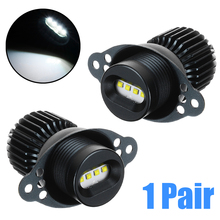 цена на 2Pcs 12-30V 20W LED White Angel Eyes Marker Halo Ring Light Bulb 7000K 1200LM Headlight For BMW E90 LCI