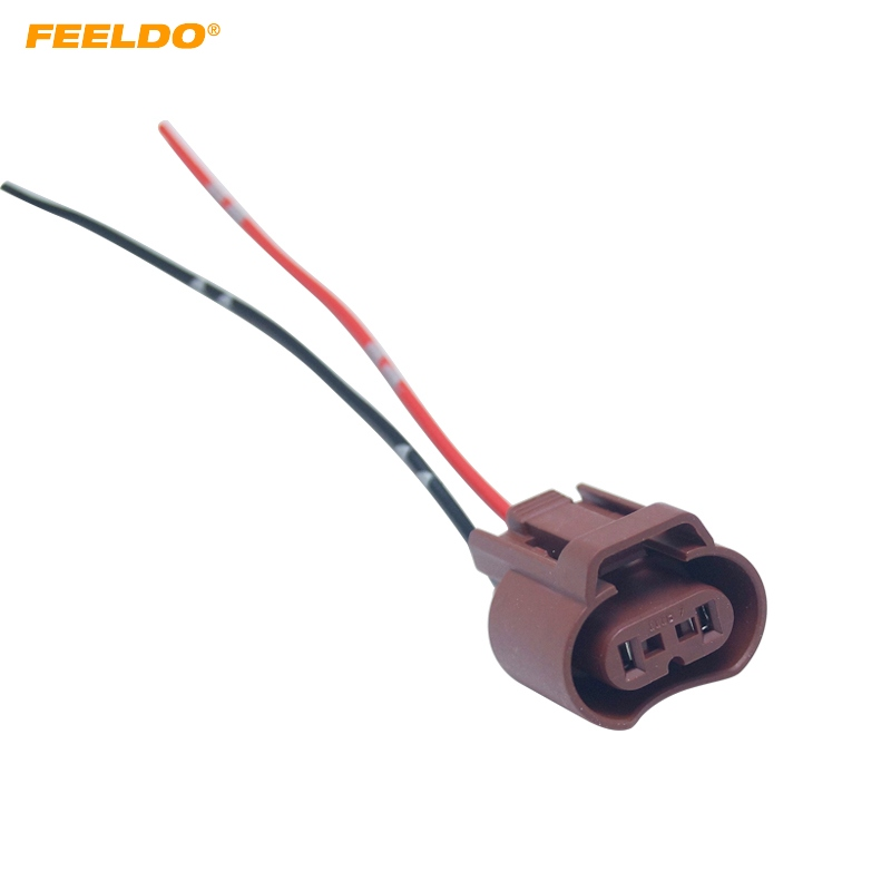 FEELDO 2Pcs Auto Fog Light Plug For Toyota Honda Mazda Headlight Lamp 9006 HB4 Connector With Wire Cable Adapter #AM5953