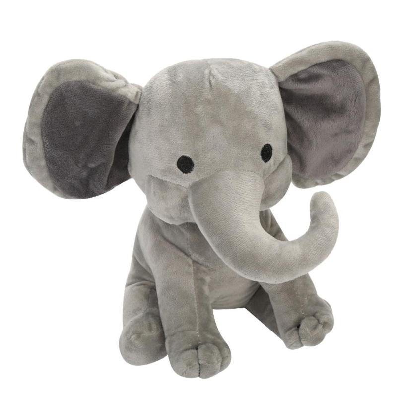 Stuffed Elephant Plush Toys Kids Baby Soft Sleeping Animal Toys Big Elephant Ear Soft Animal Figure Stuffed Toys Gifts Doll 23cm