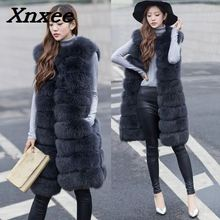 Women fur coat faux fox fur vest jacket coat winter female fur jacket outerwear waistcoat natural long fox fur slim vest coats 2017 new girls vest rabbit fur clothes imitation fox fur coat kids warm vest waistcoat baby girls winter jacket faux fur coat