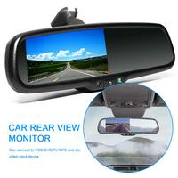 4.3 Inch Car Rear View Mirror Monitor With Bracket Mount Can Connect To VCD/DVD/TV/GPS And Etc Video Input Device