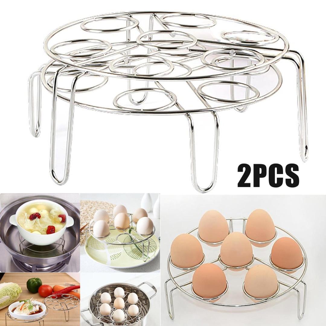 2Pcs/Set  New Kitchen Steamer Rack Instant Pot Egg Vegetable Cooker Holder Heater