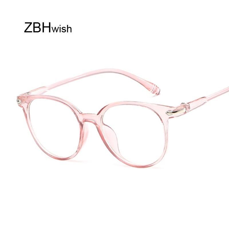 Black Spectacle Frame Cat Eye Glasses Frame Clear Lens Women Brand Eyewear Optical Pink Frames Transparent Temples For Glasses