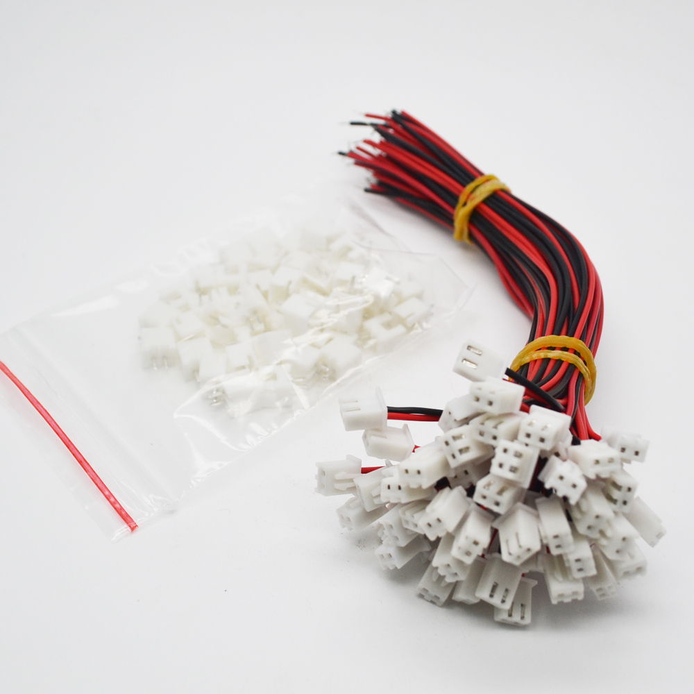 10 Sets/Lot 26AWG JST XH2.54 2 Pin Connector Plug Wire Cable 10/15/20/30mm Length  Male Female Plug Socket10 Sets/Lot 26AWG JST XH2.54 2 Pin Connector Plug Wire Cable 10/15/20/30mm Length  Male Female Plug Socket