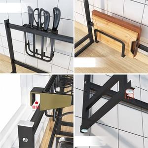 Image 3 - Stainless Steel Sink Drain Rack Kitchen Shelf DIY Bowl Dish Cutlery Drying Drainer Holder 2 Layer Storage Rack Kitchen Organizer