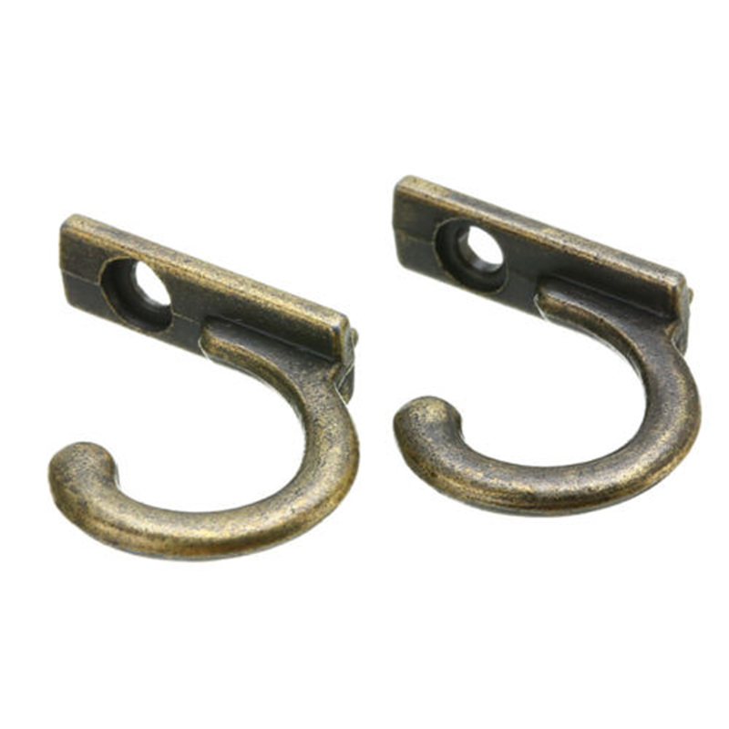 10x Antique Brass Wall Mounted Hook Key Holder Letter Rack Hanger Hanging Decor For Clothes/Coat/Hat/Bag/Towel