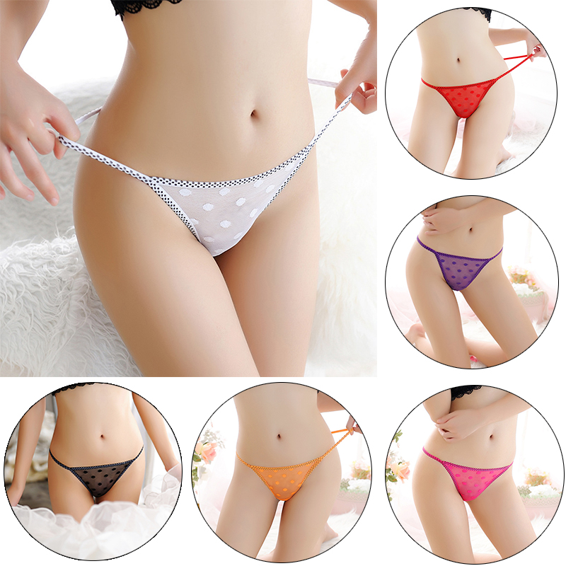 High Quality Hot Sale 1PC Lingerie G-string Lady's Sheer Thongs Lace Comfortable Sexy Underwear Briefs Women Popular Panties